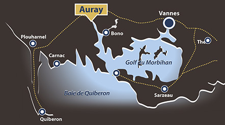 Carte situation Golfe du Morbihan